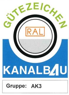 Gütezeichen Kanalbau Logo